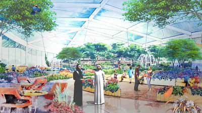 Hamdan Bin Rashid approves cave and glass house project in Quran Park