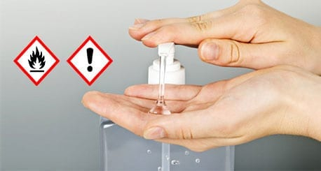 Sanitizers contain highly flammable alcoholic contents