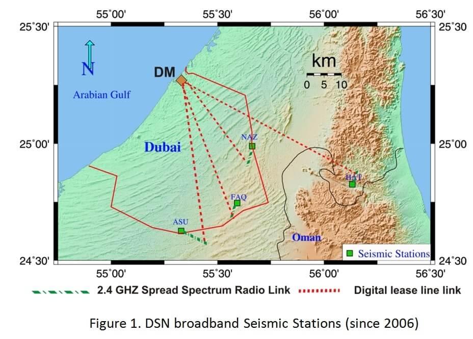 Installation of Dubai Seismic Network figure 1