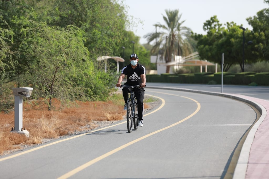 Cycling track in Mushrif Park