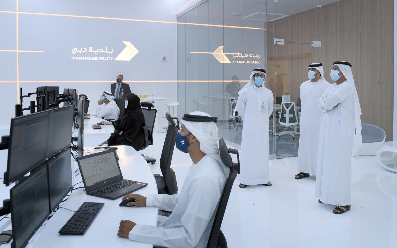 Dawoud Al Hajri visits the remote control room at Jebel Ali Sewage Treatment Plant